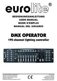 EUROLITE DMX Operator User Manual - Musik Produktiv