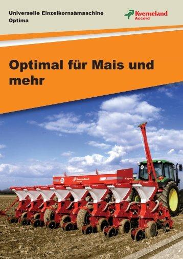 Optimal für Mais und mehr