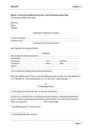 StBauFR Anlage 2.1 Seite 1 Muster - Vereinbarung (Moder