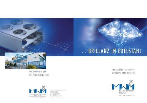 Firmenbroschüre Download - Metallwarenfabrik Mühlacker