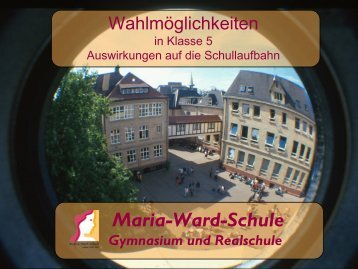 TV - Private Maria-Ward-Schule Landau