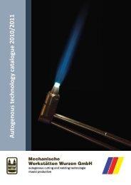 Autogenous technology catalogue 2010/2011