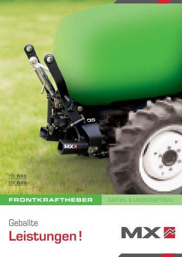 Frontkraftheber - Garten- und Landschaftsbau - MX