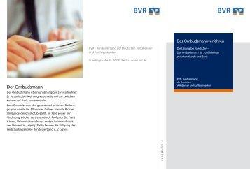 Das Ombudsmannverfahren - Bundesverband der Deutschen ...