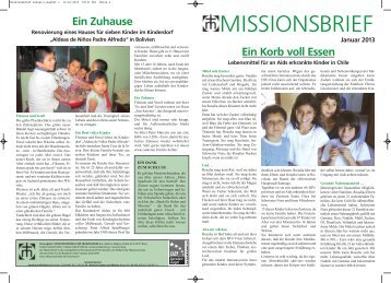 Missionsbrief Januar 2013 - Missionszentrale der Franziskaner