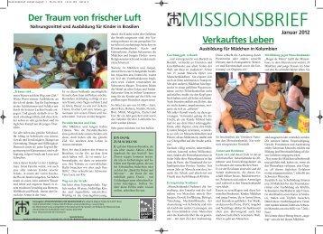 Missionsbrief Januar 2012 - Missionszentrale der Franziskaner
