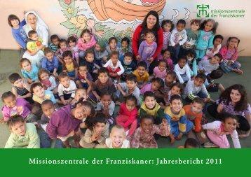 Missionszentrale der Franziskaner: Jahresbericht 2011