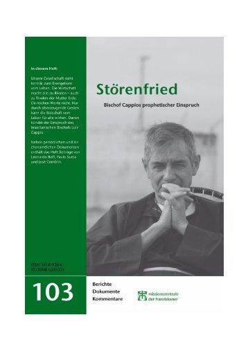 Grüne Reihe 103: Störenfried - Missionszentrale der Franziskaner