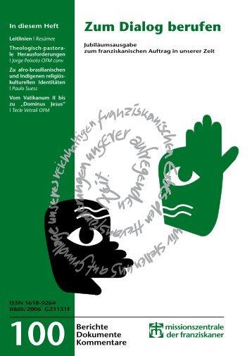 Zum Dialog berufen - Missionszentrale der Franziskaner