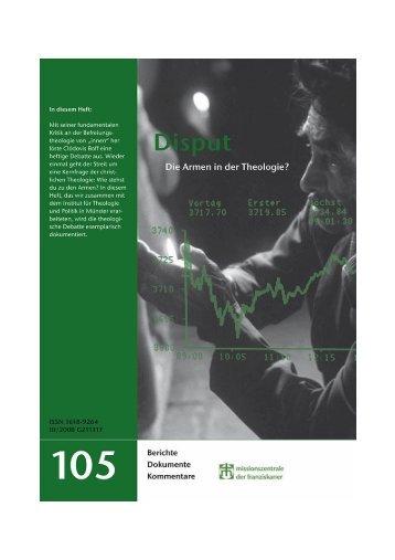 Grüne Reihe 105: Disput - Missionszentrale der Franziskaner