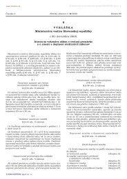 9/2009 Vyhláška Ministerstva vnútra Slovenskej republiky, ktorou sa ...