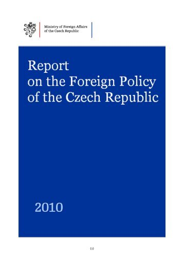Report on the Foreign Policy of the Czech