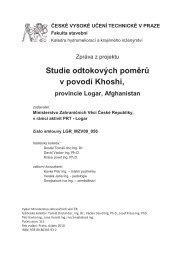 Studie odtokových poměrů v povodí Khoshi, - MZV ČR