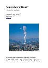 Infos für Schulen - Kernkraftwerk Gösgen