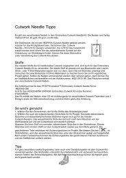 Cutwork Needle Tipps - Naehpark.com