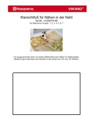 Klarsichtfuß für Nähen in der Naht - Naehpark.com