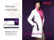 Download Prospekt PFAFF creative performance