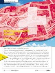 Beteiligungsmarkt Schweiz Venture Capital – Private Equity - itag.ch