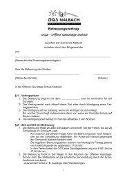 OGS - Offene Ganztags-Schule - Gemeinde Nalbach