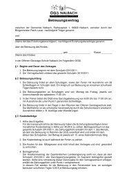 Betreuungsvertrag - Gemeinde Nalbach