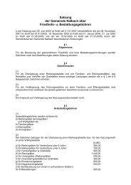 Friedhofsgebührensatzung - Gemeinde Nalbach