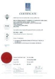 Malaysia ISO 9001 Certificate - Nalco