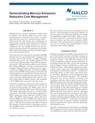 Demonstrating Mercury Emissions Reduction Cost ... - Nalco