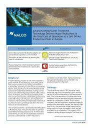 Case Study: Wastewater Cost Reduction at Soft Drink - Nalco