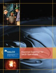 Essential Expertise for SAGD Operations - Nalco