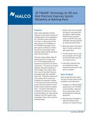 Case Study: Nalco Improves System Reliability at Bottling
