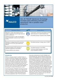 New 3D TRASAR® Membrane Technology increases plant ... - Nalco