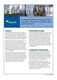 3D TRASAR® Boiler Technology  provides invaluable ... - Nalco