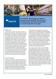 3D TRASAR® Technology for Boilers Improves Reliability at - Nalco