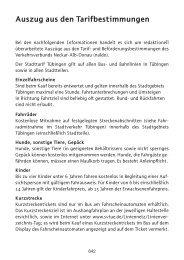 Auszug aus den Tarifbestimmungen - naldo, Verkehrsverbund ...