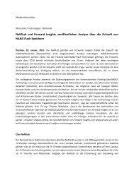 NaMLab und Forward Insights veröffentlichen Analyse über die ...