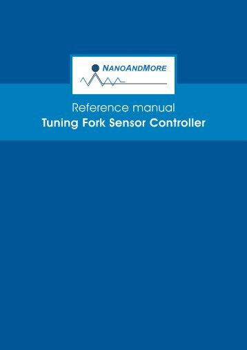 Download Reference Manual (PDF) - NanoAndMore GmbH