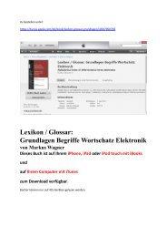 Glossar Elektronik: Buch ist auf iPhone iPad iPod touch mit iBooks zum Download verfuegbar