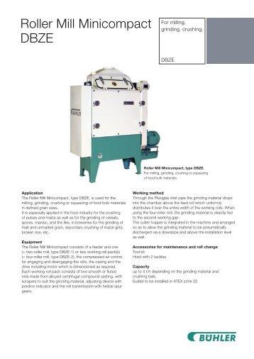 Roller Mill Minicompact DBZE