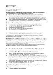Gebrauchsinformation: Information für Patienten NACOM ... - MSD