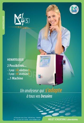 Brochure MS4s - MELET SCHLOESING Laboratoires
