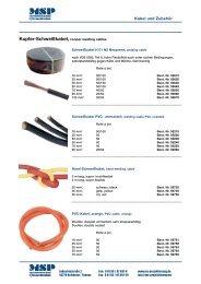 Kupfer-Schweißkabel, cooper welding cables - ms Projektierung ...