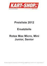 Preisliste 2012 Ersatzteile Rotax Max Micro ... - Kart Shop Rümlang