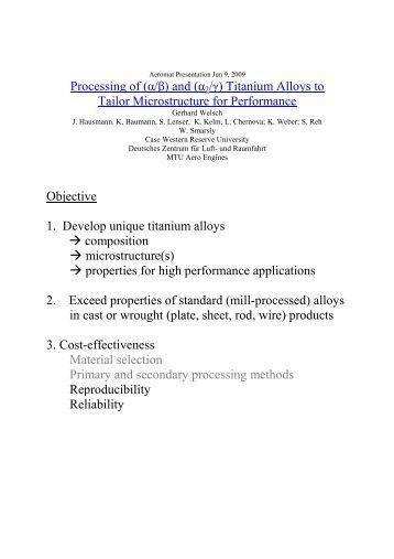Processing of - MTU Aero Engines