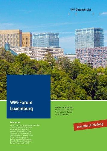 Invitation - WM Seminare
