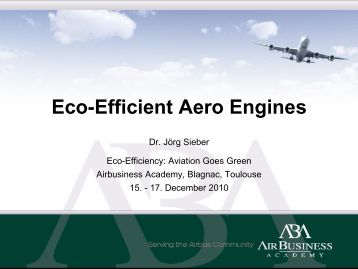 Eco-Efficient Aero Engines - MTU Aero Engines