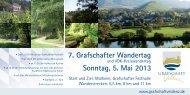7. Grafschafter Wandertag Sonntag, 5. Mai 2013 - Gemeinde ...