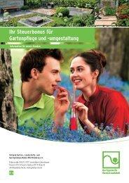 Ihr Steuerbonus für Gartenpflege und -umgestaltung