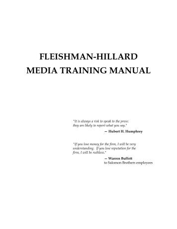 Hillard Media Training Manual