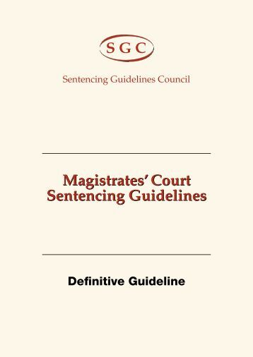 Sentencing guidelines on sexual assault