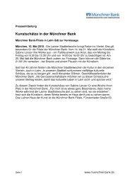 Kunstschätze in der Münchner Bank - Münchner Bank eG